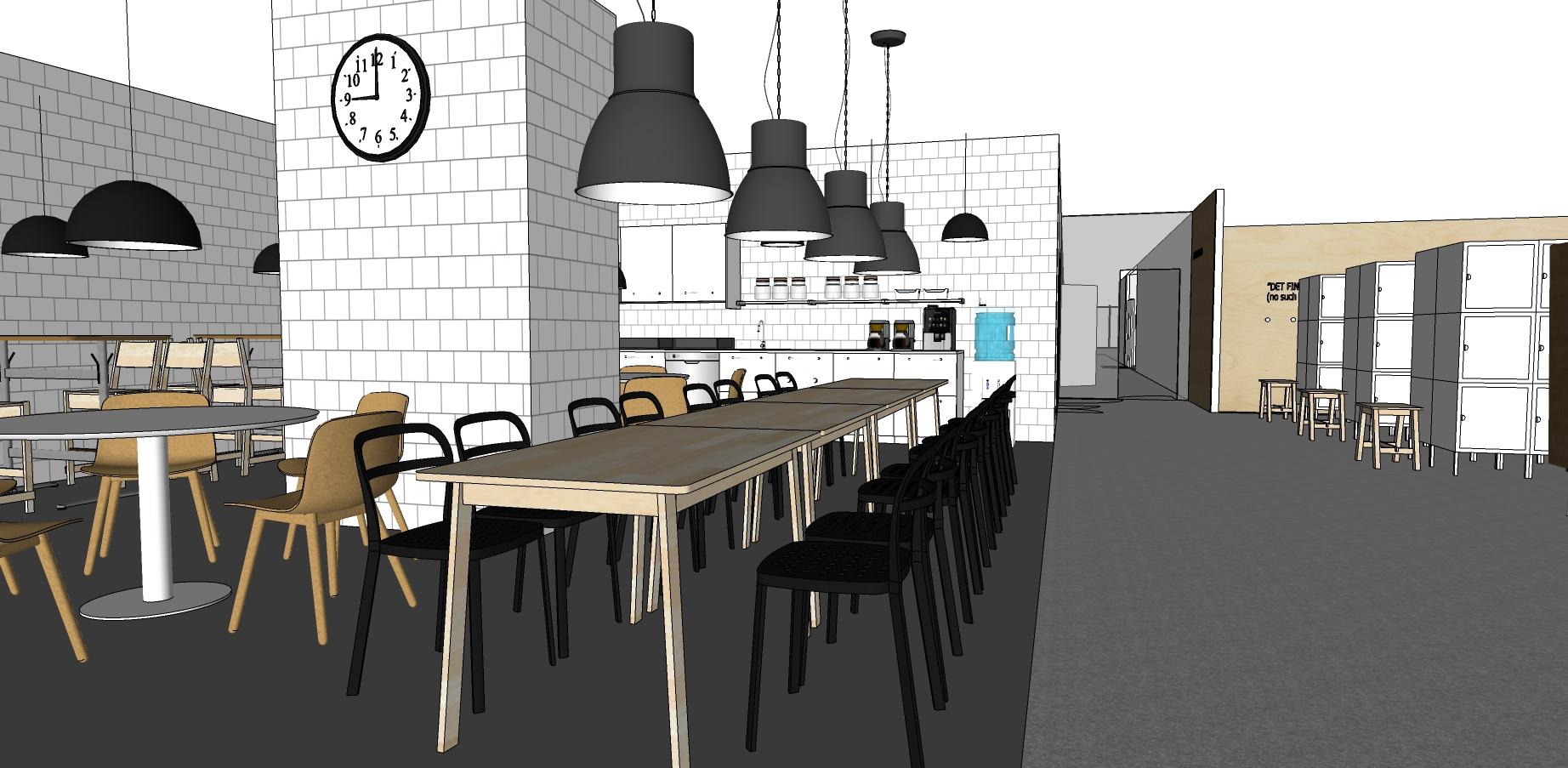 IKEA Vietnam Office Kitchen, lockers, Interior Design